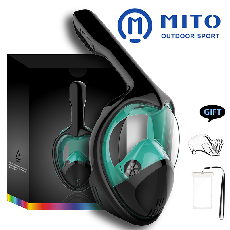 2019 New Underwater Scuba Anti Fog Full Face Diving Mask Snorkeling Set Respiratory Masks Safe And Waterproof