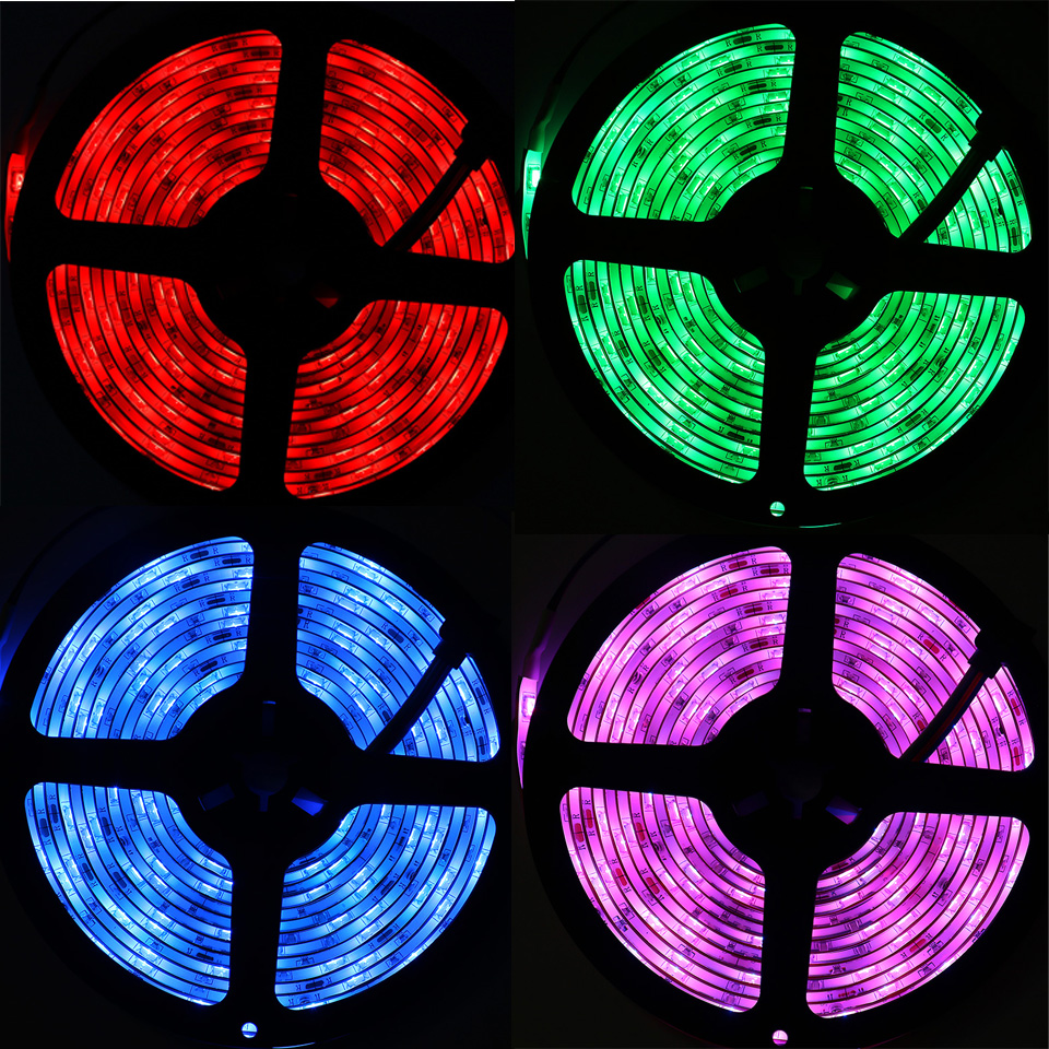 LED Strip Light Smart Christmas Light SMD5050 Flexible Ribbon led strip Alexa RGB Tape Diode DC 12V Remote Wifi Control Adapter (35)