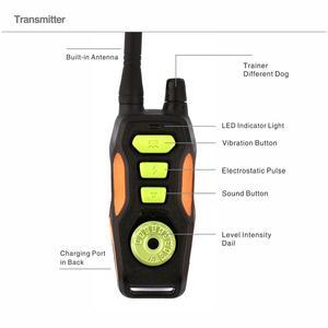 Image 2 - Coleira para animais remota, coleira elétrica de treinamento com controle remoto, recarregável, à prova dágua, com alcance de 800
