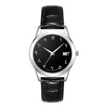 Automatic Self WINDตัวเลขภาษาอาหรับนาฬิกาอาหรับนาฬิกามุสลิมนาฬิกาเคลื่อนไหวอัตโนมัติ