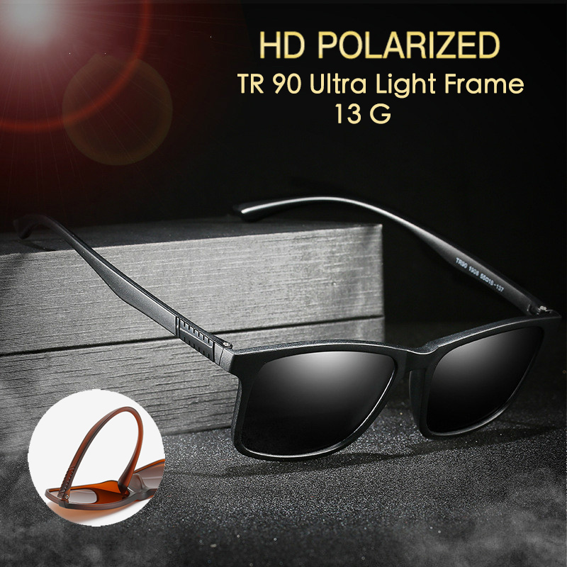 TR90 Ultra Light Polarized Sunglasses Women/Men Anti Glare At Night Yellow Lens Driving Men/Women Polarized/UV400 Sunglasses