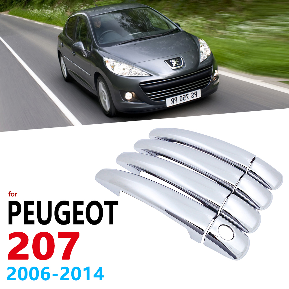 Chrome Handles Cover Trim for Peugeot 207 207SW SW CC 2006 2014 Car Accessories Stickers Auto Styling Estate 2007 2008 2009 2010