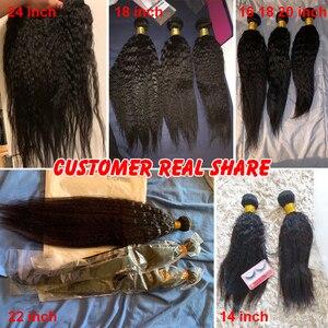 Image 3 - Verworrene Gerade Haar Bundles Brasilianische Haar Weave Bundles Menschliches Haar Bundles 3/4 Mslynn Remy Haar Verlängerung Natürliche Schwarz