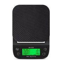 WeiHeng – Balance de cuisine électronique pour café 3kg 0.1g, avec écran LCD, Balance de poids pour la cuisson, avec bol