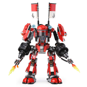 944 Pcs Fire Mechs Battle Huge Robots Building Blocks Bricks Compatible Ninjagoing 70615 Toys for Children Gifts