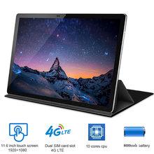 Orginal neue 11,6 zoll 2 in 1 Tablet Android 4G LTE MTK6797 10 cores Android 8,0 Tablet für Zeichnung tabletten mit Tastatur maus