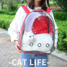 Breathable Beautiful Portable Pet Carrier Bag Outdoor Travel Puppy Cat Transparent Space Backpack Capsule