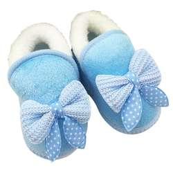 Шэньчжэнь Милая обувь для маленьких девочек малышей Первые ходунки теплые зимние сапоги на мягкой подошве для младенцев # E