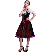 цена на Foreign trade Halloween role play Beer Festival Maid Costume traditional ethnic Princess Dress performance Costume