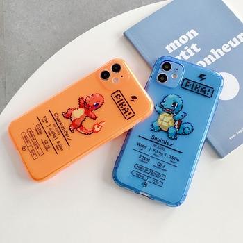 Перейти на Алиэкспресс и купить Чехол для телефона Huawei P30 P40 Pro Mate 30pro Nova 5 Nova 6 Nova 7, модный прозрачный мягкий ТПУ чехол с мультяшным покемоном флуоресцентного цвета