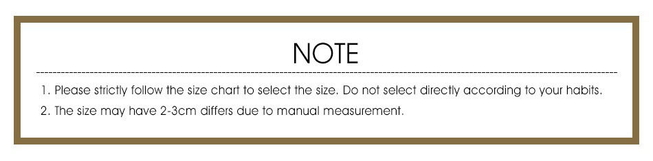 Please Allow 1-3 Inches Deviation Due to Manual Measurements Size Difference Image Juicy-Junk.com