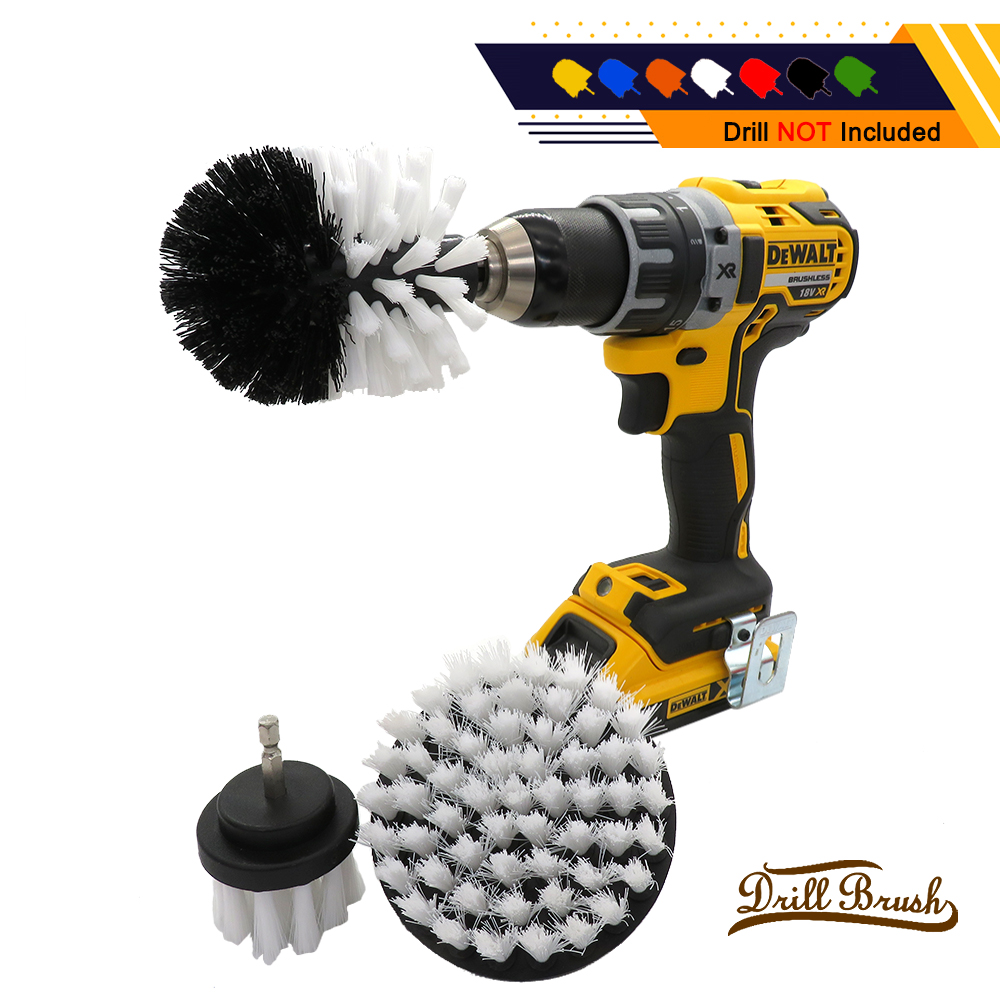 1 PCS Electric Drill Brush Kit Plastic Round Cleaning Brush For Carpet Glass Car Tires Nylon Brushes Power Scrubber Drill
