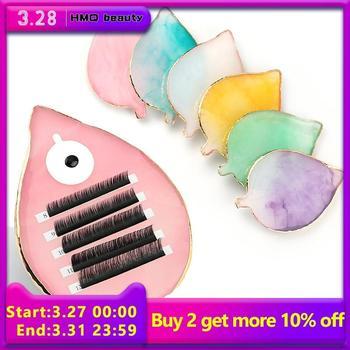 1 pcs False Eyelash Extension Stand Pallet Pad Resin Leaf-like Lashes glue Holder For Fake Eyelashes Extension Makeup Tools