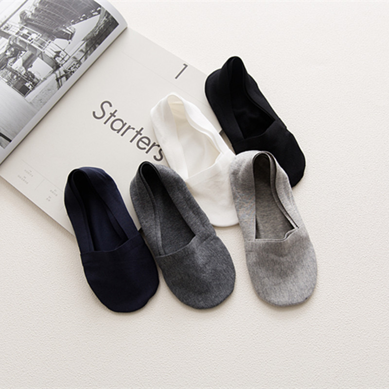 2019 New One Pair Solid Anti-Slip Unisex Silicone No Show Socks Unisex