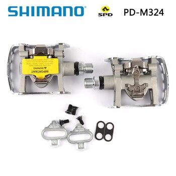 Shimano-pedales PD M324 PD-M324 SPD para bicicleta de montaña, juego de SM-SH56 con tacos