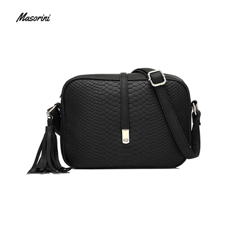 Women Small Messenger Bag Women  Bucket Shoulder Bag Cross Body Messenger Bag Ladies Retro Pu Leather Tassel Handbag Purse