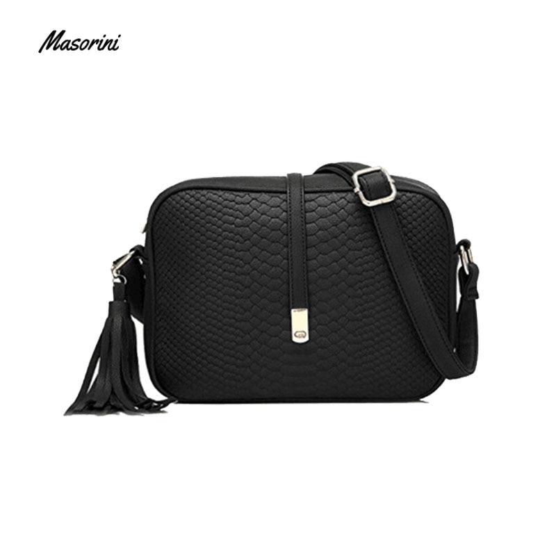 Women Small Messenger Bag Women  Bucket Shoulder Bag Cross Body Messenger Bag Ladies Retro Pu Leather Tassel Handbag Purse