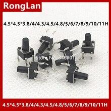 [SA] одним нажатием кнопки переключения переключатель микропереключатель линии 4,5x4,5 4,5*4,5*3,8/4/4,3/4,5/4,8/5/6/7/8/9/10 /11 ч legs-200pcs/лот