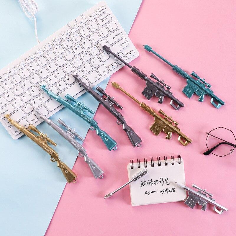 2pcs Creative 98k Sniper Rifle Gel Pen Kids Toys Plastic Weapon Pen Stationery Student Prize Gift