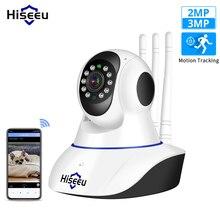 Hiseeu 3MP 2MP IP bezprzewodowa kamera bezpieczeństwo w domu kamera wifi 1080P 1536P dwukierunkowy Audio CCTV wideo Surveillace niania elektroniczna Baby Monitor Yoosee