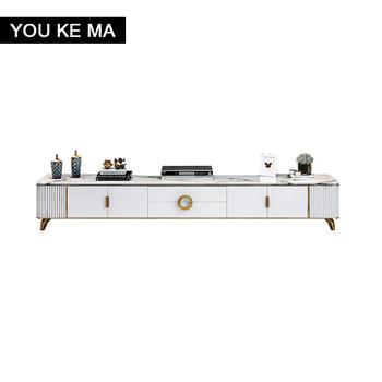 Szafka TV post-nowoczesny minimalistyczny duży typ mebli biały salon łagodny luksusowy marmurowy stolik kawowy szafka TV połączenie tanie i dobre opinie NoEnName_Null Nowoczesne CN (pochodzenie) 45cm China 200cm Farby 200*45*40cm samodzielnie 513# Stojak na telewizor Metal