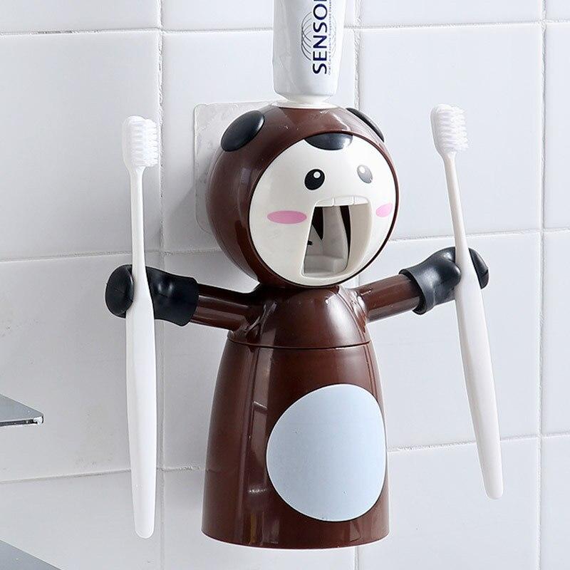 Cartoon Toothbrush Squeeze Strong Seamless Stickers Toothpaste Presser Rack Bathroom Accessories Cute Children Toothbrush|Toothpaste Squeezers|Home & Garden - title=