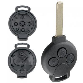 3 przyciski etui na kluczyki do samochodu pasuje do mercedes-benz Smart Fortwo 451 2007-2013 tanie i dobre opinie CN (pochodzenie) China Car Remote Key Shell Firm material 0 02kg