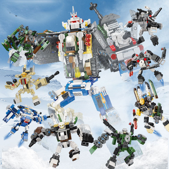 8 In1 Transformation Serie  Assembling Building Blocks Set Robot Car Toy Brick Tank Aircraft Cannon Truck Model Deformation Toy