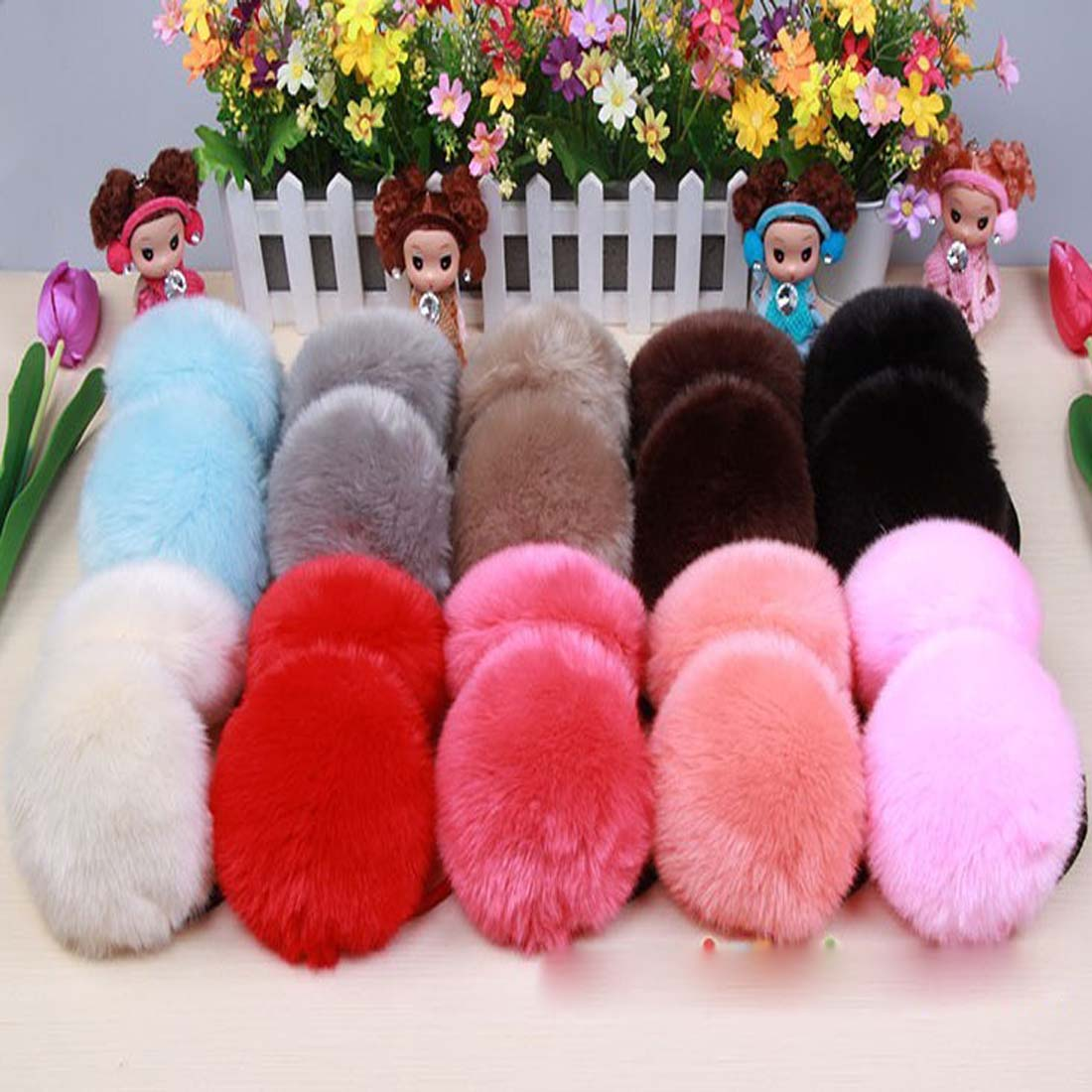 Fashion Warm Cute Plush Fuzzy Faux Ears Earmuffs Thick Student Ear Muffs Solid Girls Headband Ears Soft Winter Accessories