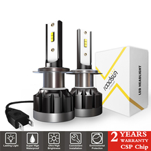 2Pcs Mini H4 H7 LED Car Headlight Bulb H1 H11 HB3 HB4 9005 9006 CSP Lights 72W 12000LM Auto Headlamp 12V 24V 6000K Lamp
