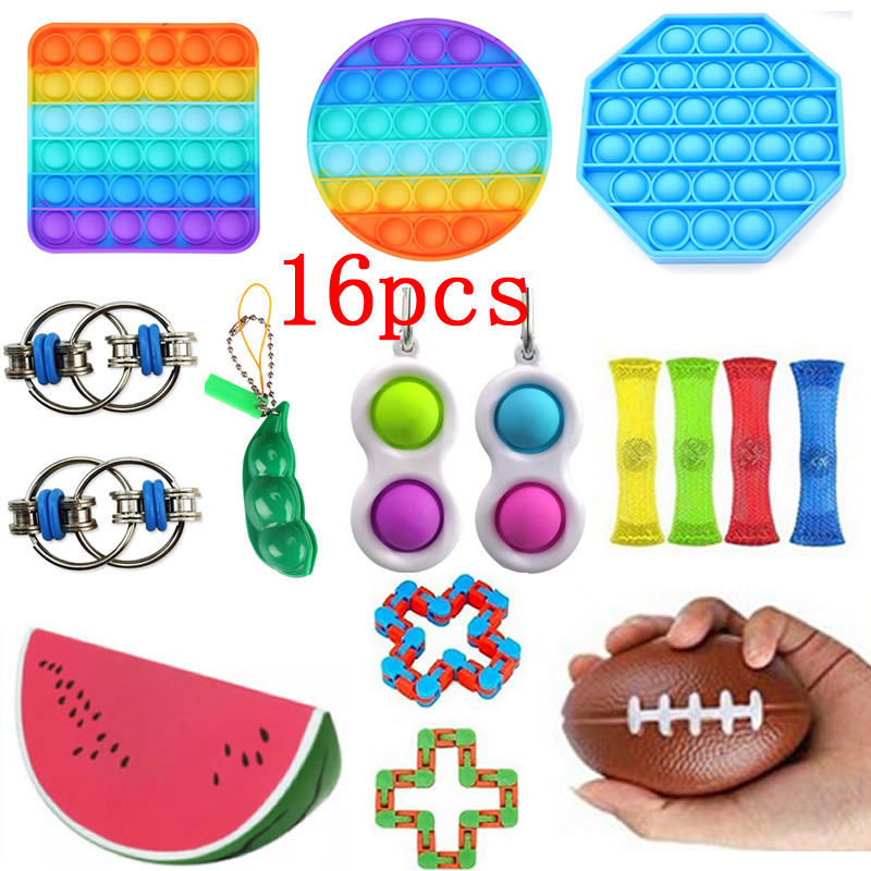 Kids Gift Toys-Pack Fidget Anti-Stress-Set Simpel Dimpel Relief-Tabletop Squeeze Push Bubble img3