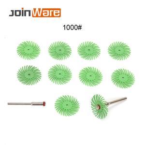 Image 4 - 70 pçs escova abrasiva de cerdas radiais misturadas grit grosso dremel acessórios para ferramenta abrasiva + 5 pçs mandril