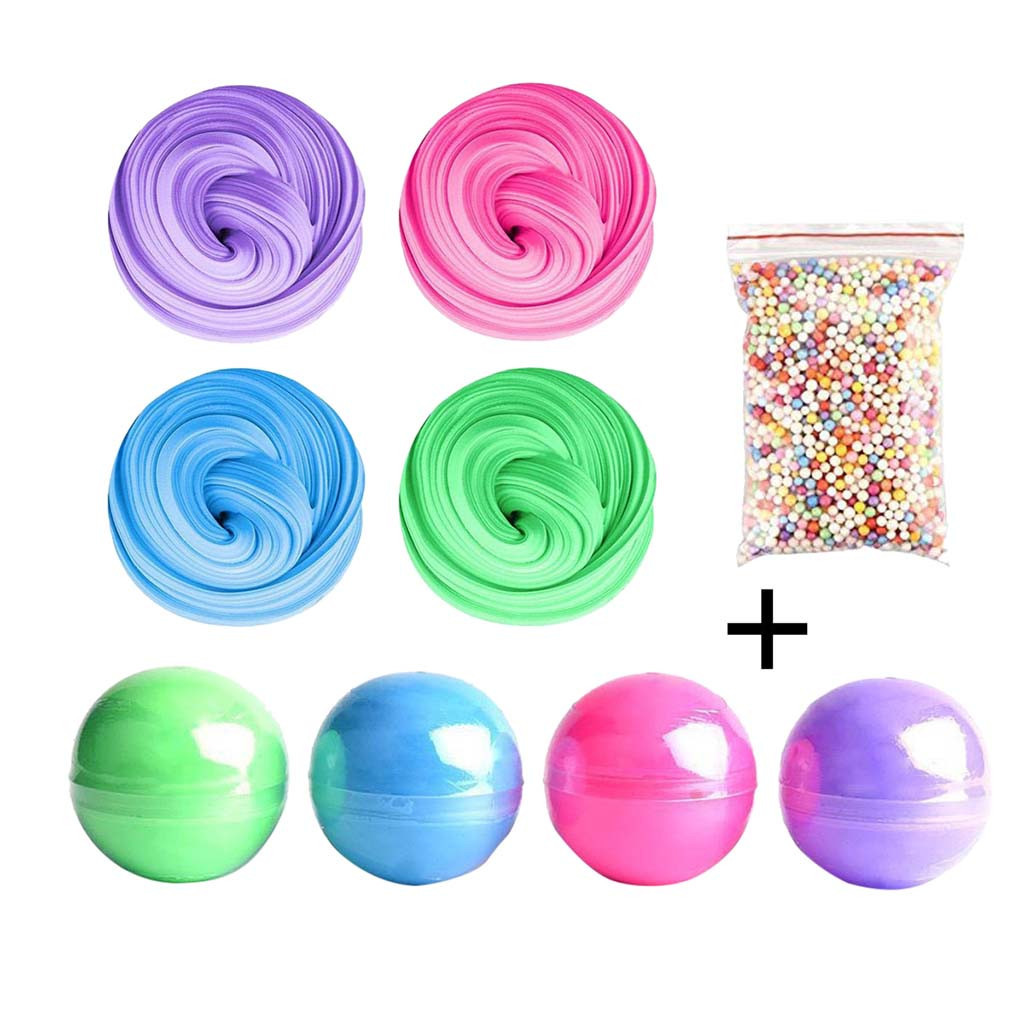 Slime Set Cotton Mud Color Mud Decompression Toy Children's Educational Toys Plasticine Gum Polymer Clay Antistress #B
