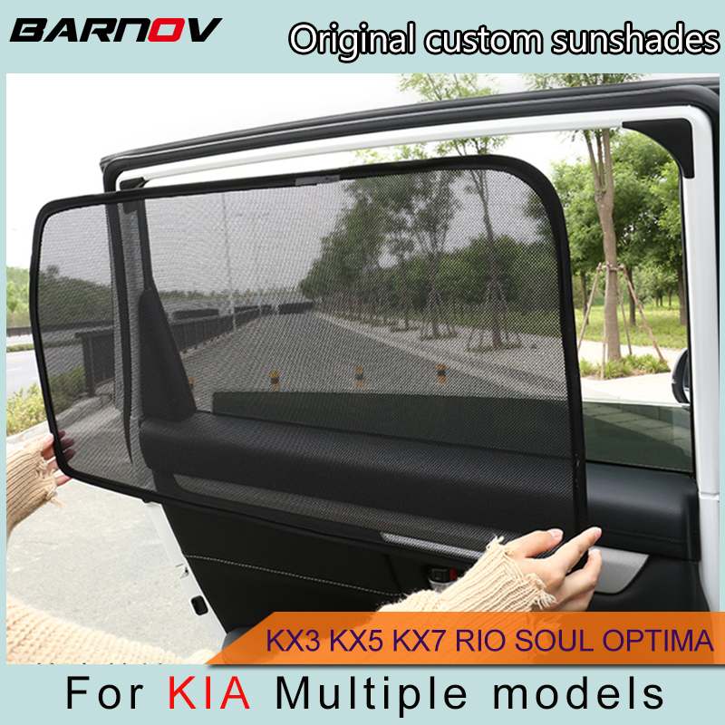 BARNOV Car Special Curtain Window SunShades Mesh Shade Blind Original Custom For KIA KX3 KX5 KX7 KX-CROSS RIO SOUL OPTIMA
