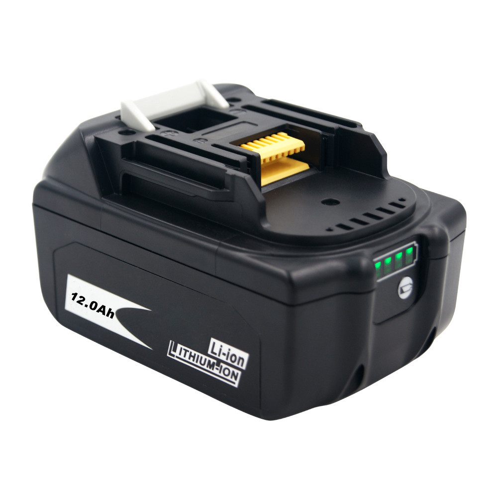New 18V 12.0Ah 12000mAh Li-Ion Battery Replacement Power Tool Battery for MAKITA BL1880 BL1860 BL1830+3A Charger