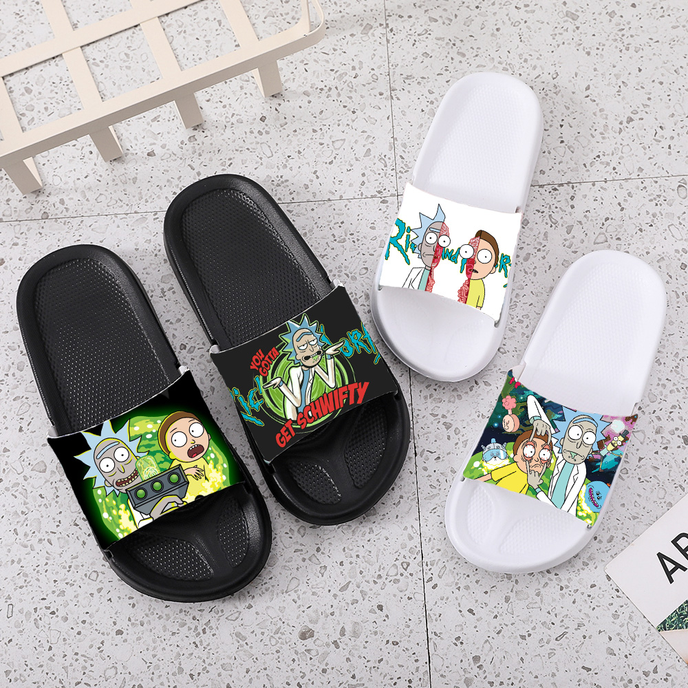 Slippers Women Slippers Men For Kids Casual Men Shoes Home Sneakers Shower Rick And Morty Slides Flip Flops Sandals Woman 2020
