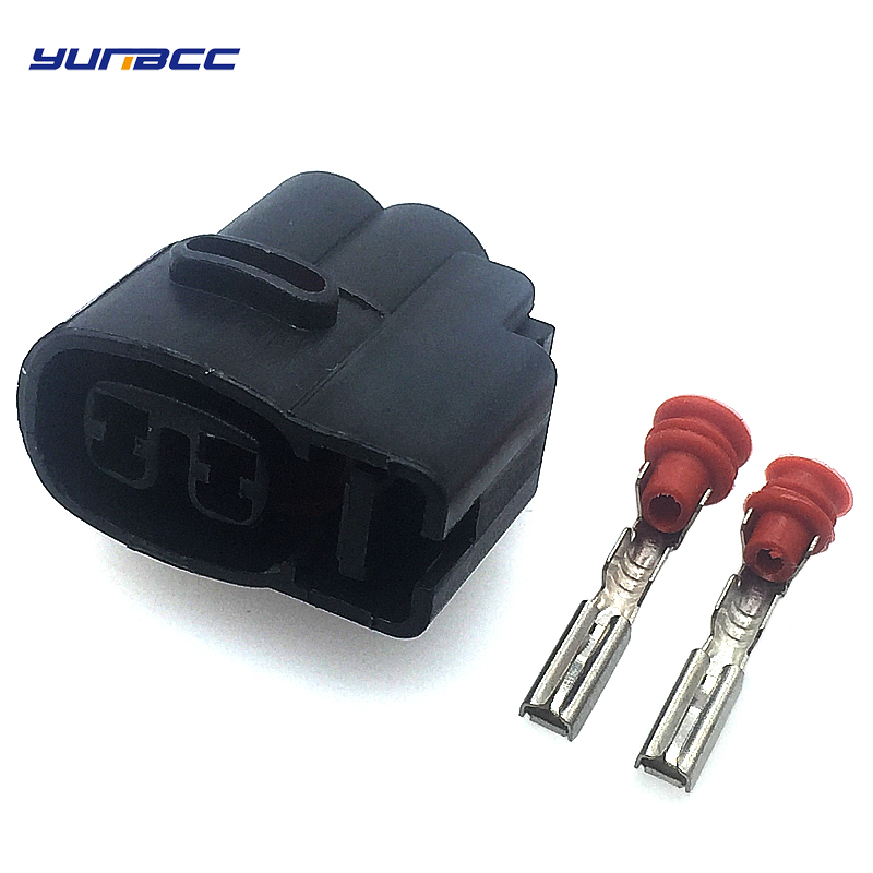 5 Sets 2 Pins 2.0 KIA Ignition Coil Female Automotive Connector MG640605 CVVT Fuel Injector Connector Wiring Harness Automatic Plug