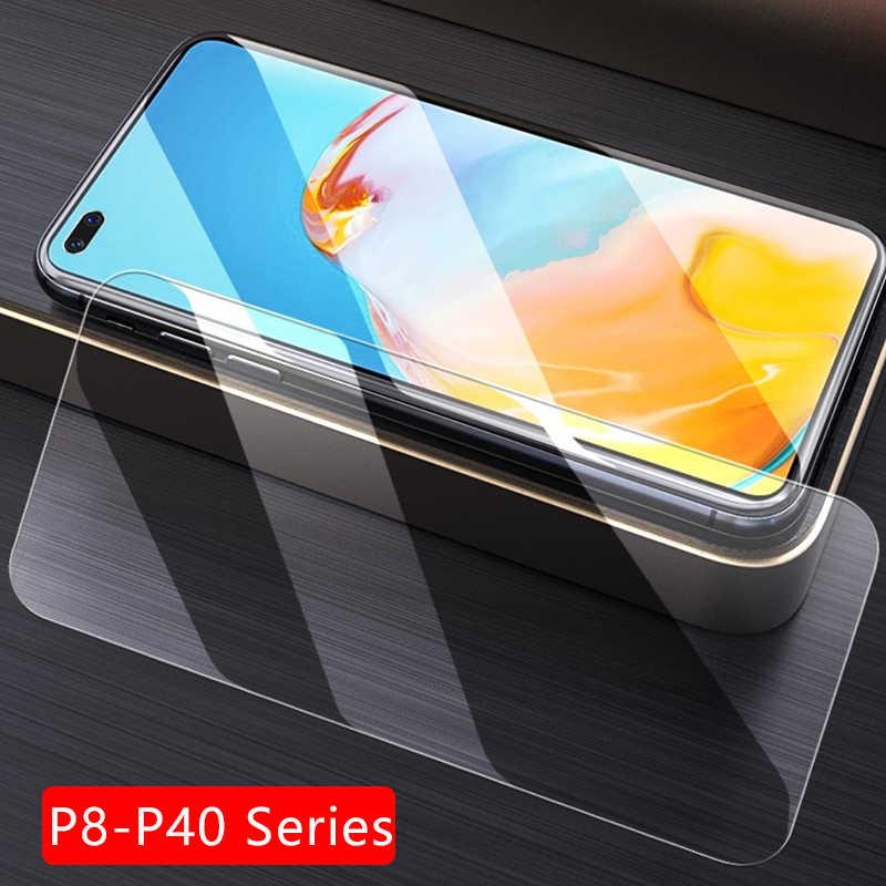 กรณีสำหรับ Huawei P8 P9 P10 P20 P30 P40 Lite E 2017 ฝาครอบกระจกนิรภัย ON P 8 9 10 20 30 40 Light coque p30lite p40lite p20lite
