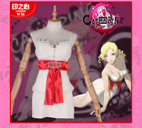 Anime cosplay costume Catherine Pajamas white sexy clothing for woman