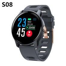NUOVO S08 smart watch sport allaria aperta inseguitore di fitness più modalità di monitoraggio della frequenza cardiaca di sport IP68 impermeabile smartwatch uomini