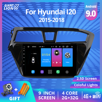 2 DIN Android 9.0 Car RadioFor Hyundai I20 2015 2016 2017 2018 GPS Navigation Stereo DVD Player Car Multimedia Player Autoradio image