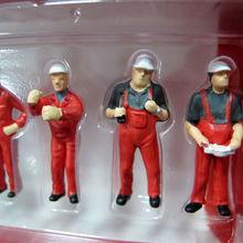 1/50 масштабные аксессуары для сцены, 6 шт., Серые Рабочие, подходят для строительных машин, куклы, мини-модели, детские игрушки Brinquedos