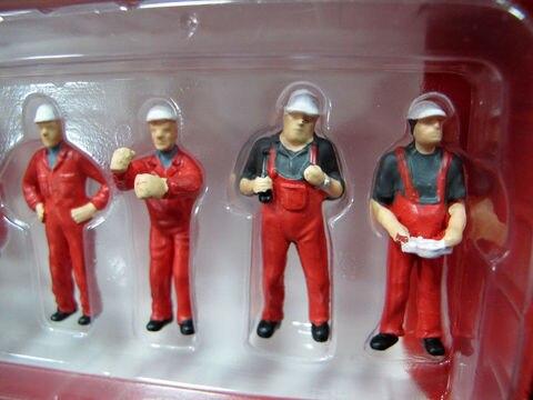 1 50 escala local cena acessorios 6pcs cinza trabalhadores caber veiculos de construcao boneca mini