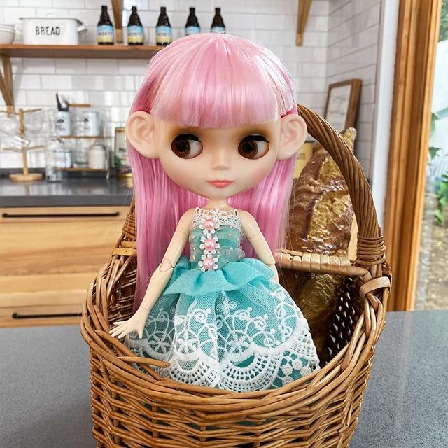 ブライスドールネオブライス人形 NBL カスタマイズされた光沢のある顔、 1/6 BJD 球体関節人形 Ob24 人形ブライスのため、おもちゃ子供のための NBL01