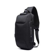 Men Outdoor Shoulder Bag Backpack Water-Resistant Oxford Cloth Chest Pack Fashion Burglarproof Chest Bag Backpack Shoulder Bag outdoor water resistant backpack bag black