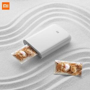 Xiaomi Mijia AR Printer 300dpi Portable Photo Mini Pocket With DIY Share 500mAh picture printer pocket printer works with mijia