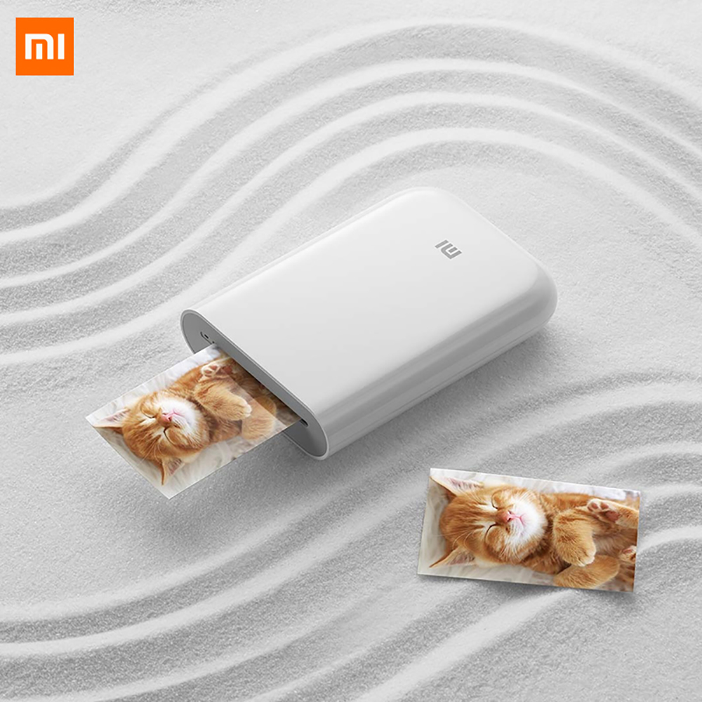 Xiaomi Mijia AR Printer 300dpi Portable Photo Mini Pocket With DIY Share 500mAh picture printer pocket printer works with mijia