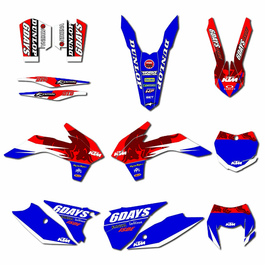 Motorcycle Team Decals Stickers Graphics DECO For KTM 125 200 250 300 350 450 EXC EXCF XCW XCF-W  2014 2015 2016
