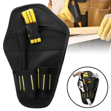 Multifunctional Portable Electrician Bags Drill Tool Belt Pouch Bit Holder Waist Drill Tool Storage Bag Oxford Cloth Pouch Bag free shipping tool bags oxford waterproof fabric electrical tool bag storage box multi bags tool belt saddle bag ad1030