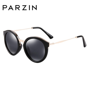 Image 5 - PARZIN Luxury Brand Retro Round Women Sunglasses High Quality Polarized Ladies Sun Glasses For Driving